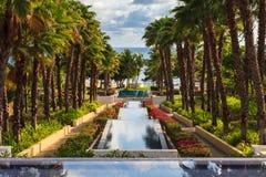 Мексиканский курорт в после полудня Стоковые Изображения RF