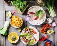 Мексиканский обедающий стиля Стоковая Фотография