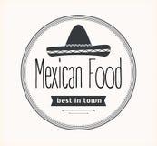 Мексиканский логотип еды Стоковая Фотография