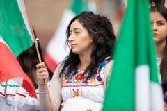 Мексиканский парад независимости стоковые изображения