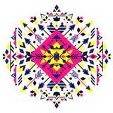 Мексиканский племенной геометрический орнамент Абстрактная этническая печать для дизайна Стоковые Фотографии RF