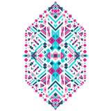 Мексиканский племенной орнамент Этническая печать для дизайна, моды, одежд, вышивки, знамен, плакатов, карточек, предпосылок Стоковое Изображение RF