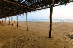 Мексиканский пляж Palapa Стоковая Фотография RF
