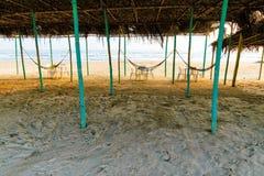 Мексиканский пляж Palapa Стоковые Фото