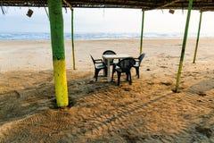 Мексиканский пляж Palapa Стоковое Изображение RF
