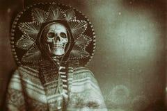 Мексиканский скелет бандита стоковые изображения rf