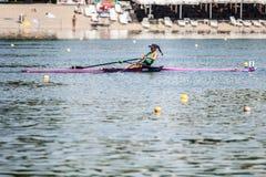 Мексиканский спортсмен на rowing конкуренции чашки мира гребя Стоковое Изображение RF