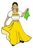 Мексиканский танцор Иллюстрация вектора
