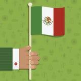 Мексиканский флаг иллюстрация штока