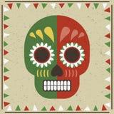 мексиканский череп иллюстрация вектора