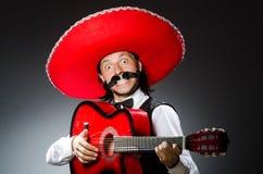 Мексиканский человек с гитарой Стоковое Фото