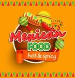 Мексиканский ярлык еды Стоковые Фото