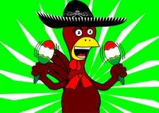 Мексиканский mariachi background8 цыпленка Стоковая Фотография