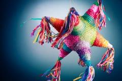 Мексиканский pinata используемый в posadas и днях рождения Стоковые Фотографии RF