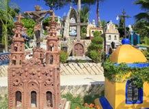 Мексиканское кладбище в парке Xcaret, полуострове Юкатан Стоковое Изображение