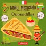 Мексиканское меню Стоковые Фотографии RF