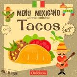 Мексиканское меню Стоковые Фото
