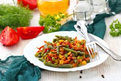 Мексиканское смешивание овощей стоковое фото