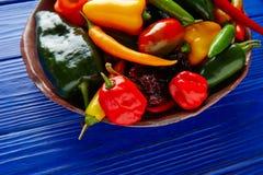 Мексиканское смешивание перцев горячего chili красочное Стоковое Изображение