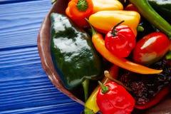 Мексиканское смешивание перцев горячего chili красочное Стоковые Изображения RF