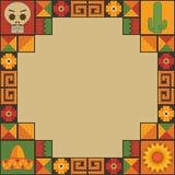 Мексиканское украшение рамки иллюстрация вектора