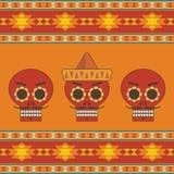 Мексиканское украшение calavera иллюстрация вектора