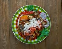 Мексиканское филе блюда говядины Стоковые Фото