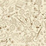 Мексиканськая безшовная ретро иллюстрация вектора бесплатная иллюстрация