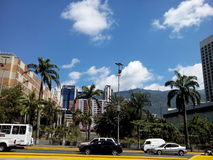 Мексиканський бульвар с целью горы Авила в Каракасе Венесуэле Стоковое Изображение RF