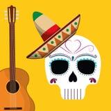 Мексиканський дизайн культуры и ориентир ориентира Стоковое Изображение