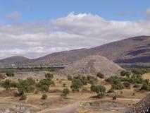 Мексика пирамидки teotihuacan пирамидка луны teotihuacan Стоковая Фотография RF