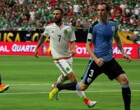 Мексика против Уругвая Стоковая Фотография RF