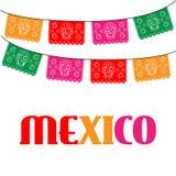 Мексика шаблон с висеть традиционного мексиканца иллюстрация штока
