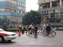 Мексика Veiw улиц в Мехико стоковое фото