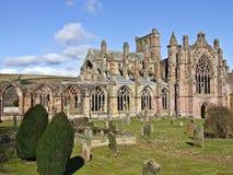 Мелроуз Шотландия аббатства стоковые фото