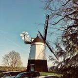 Мельница ветра на ферме Стоковое Изображение RF