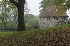 Мельница Mallumse в Eibergen в Нидерландах Стоковые Изображения