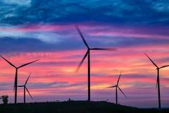 Мельницы энергии ветра, Таиланд Стоковая Фотография
