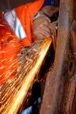 меля сталь Стоковое фото RF