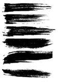 Мел и уголь щетки Grunge иллюстрация вектора