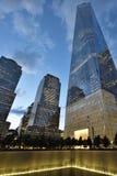 9/11 мемориалов на всемирном торговом центре Стоковые Фото