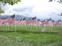 9/11 мемориалов флага Стоковая Фотография RF