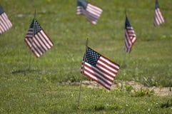 Мемориальный конец флага вверх Стоковое Изображение