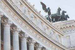 Мемориальный памятник Vittoriano в квадрате Venezia Стоковая Фотография RF