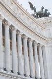 Мемориальный памятник Vittoriano в квадрате Venezia Стоковые Фотографии RF