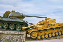 Мемориал в памяти о сражении танка стоковое изображение rf
