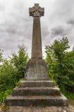 Мемориал кельтского креста на некрополе Глазго, Шотландии Великобритании стоковая фотография