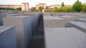 Мемориал к убитым евреям Европы, также известным как мемориал холокоста сток-видео