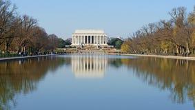 Мемориал Линкольна, американский национальный монумент построенный для того чтобы удостоить шестнадцатого президента Соединенных  стоковые фото