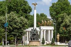 Мемориал павших героев в городе скопья, Республики Македония Стоковая Фотография RF